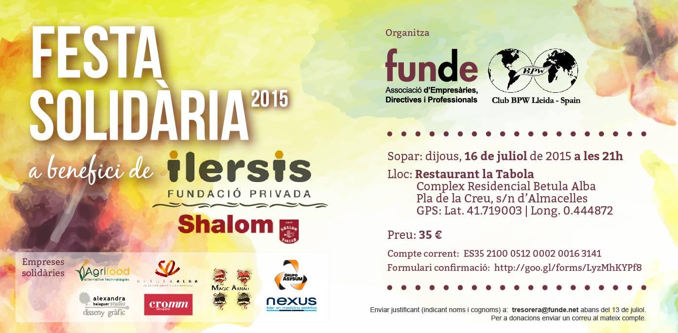 Colaboración con la FIESTA SOLIDARIA 2015